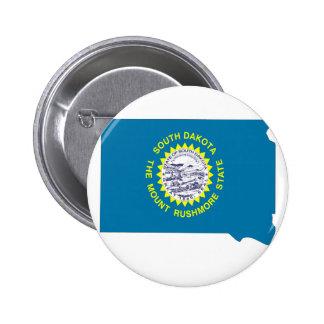 Mapa de la bandera de Dakota del Sur Pin