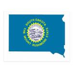 Mapa de la bandera de Dakota del Sur Postales