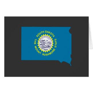 Mapa de la bandera de Dakota del Sur Tarjeta De Felicitación