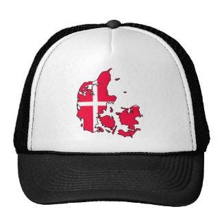 mapa de la bandera de Dinamarca Gorros