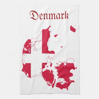 Mapa de la bandera de Dinamarca Toalla