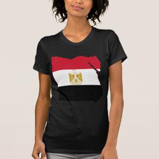 Mapa de la bandera de Egipto EG Camisetas