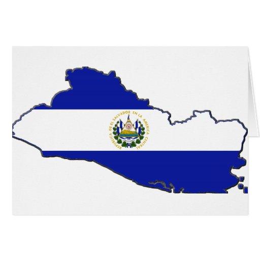Mapa de la bandera de El Salvador Felicitacion