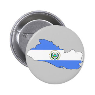 Mapa de la bandera de El Salvador Pin Redondo 5 Cm