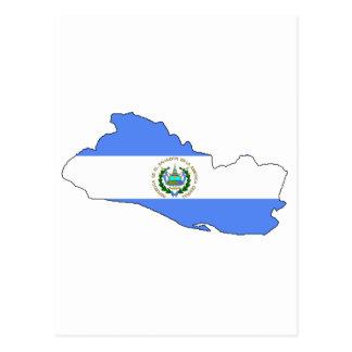 Mapa de la bandera de El Salvador Tarjetas Postales