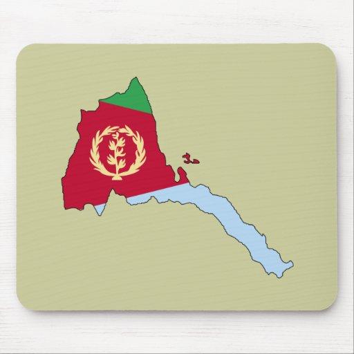 Mapa de la bandera de Eritrea Tapete De Ratones