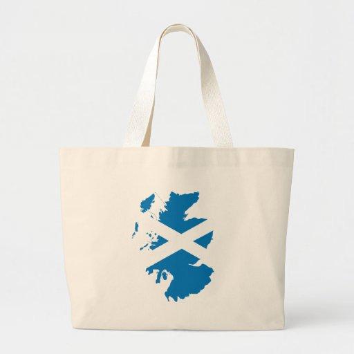 Mapa de la bandera de Escocia del mismo tamaño Bolsa Tela Grande