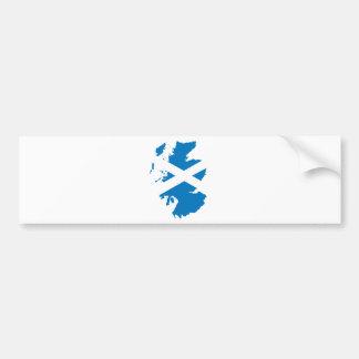 Mapa de la bandera de Escocia del mismo tamaño Pegatina De Parachoque