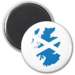 Mapa de la bandera de Escocia del mismo tamaño Imán