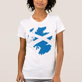 Mapa de la bandera de Escocia del mismo tamaño Camiseta