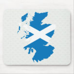 Mapa de la bandera de Escocia del mismo tamaño Tapetes De Ratones