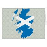 Mapa de la bandera de Escocia del mismo tamaño Felicitaciones