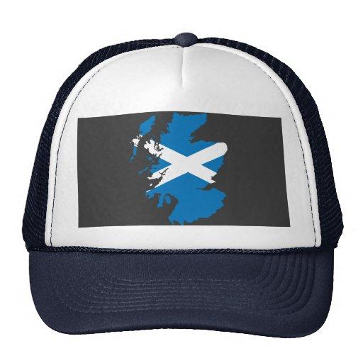 Mapa de la bandera de Escocia Gorro