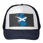 Mapa de la bandera de Escocia Gorros