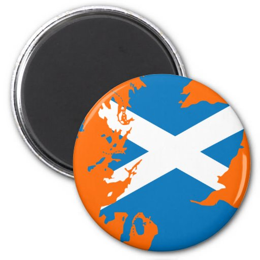 Mapa de la bandera de Escocia Iman De Nevera