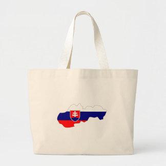 Mapa de la bandera de Eslovaquia del mismo tamaño Bolsa