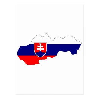 Mapa de la bandera de Eslovaquia Postales