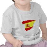 Mapa de la bandera de España Camiseta