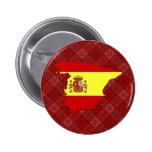 Mapa de la bandera de España del mismo tamaño Pin