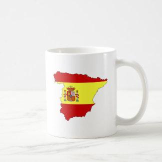 Mapa de la bandera de España del mismo tamaño Tazas