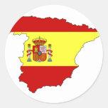 Mapa de la bandera de España Etiquetas Redondas
