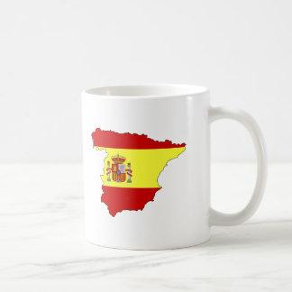 Mapa de la bandera de España Taza Clásica