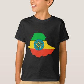 Mapa de la bandera de Etiopía Playera