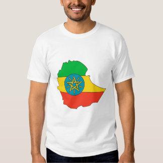 Mapa de la bandera de Etiopía Polera