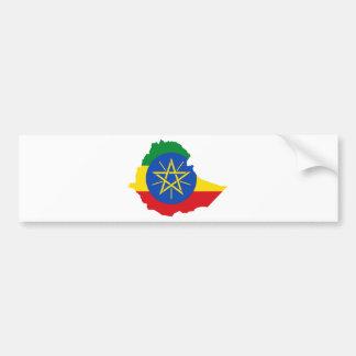 Mapa de la bandera de Etiopía Y Etiqueta De Parachoque