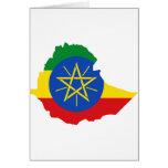 Mapa de la bandera de Etiopía Y Felicitacion