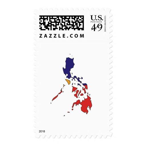 Mapa de la bandera de Filipinas Sellos