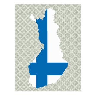 Mapa de la bandera de Finlandia del mismo tamaño Postales