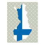 Mapa de la bandera de Finlandia del mismo tamaño Tarjeta Postal