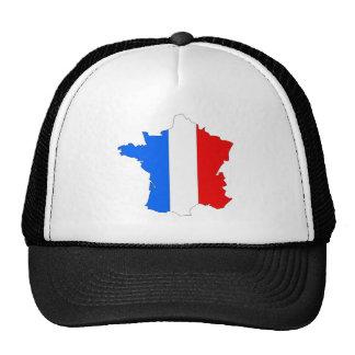 Mapa de la bandera de Francia del mismo tamaño Gorros Bordados