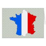 Mapa de la bandera de Francia del mismo tamaño Tarjetón