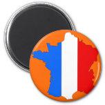 Mapa de la bandera de Francia Iman Para Frigorífico