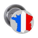 Mapa de la bandera de Francia Pin
