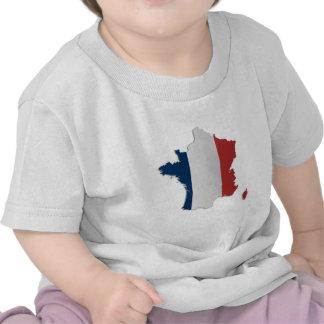 Mapa de la bandera de Francia Camiseta