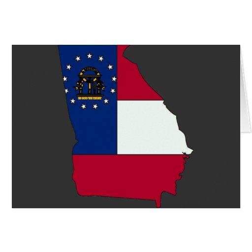 Mapa de la bandera de Georgia Felicitación