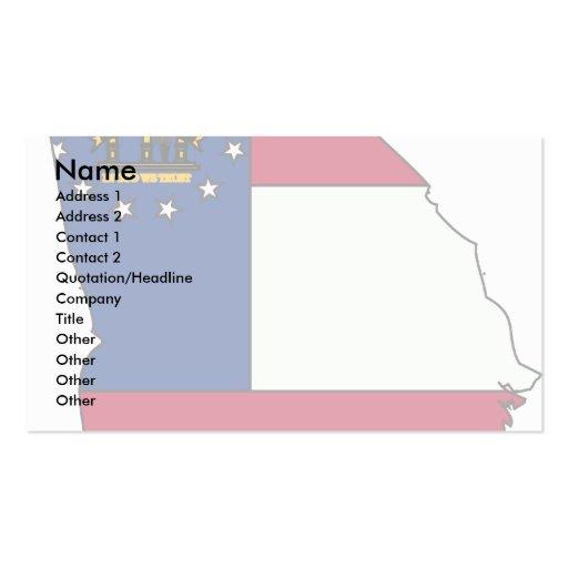 Mapa de la bandera de Georgia Tarjeta De Negocio