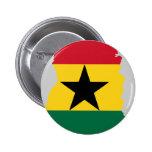 Mapa de la bandera de Ghana Pin