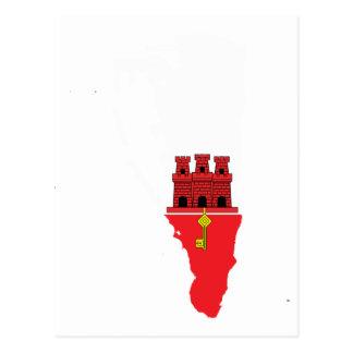 Mapa de la bandera de Gibraltar Tarjeta Postal