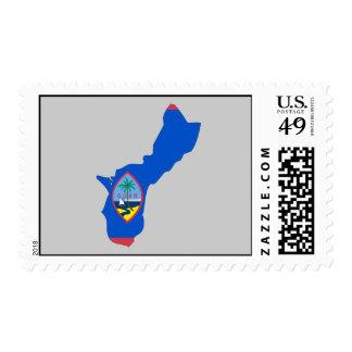 Mapa de la bandera de Guam Sellos