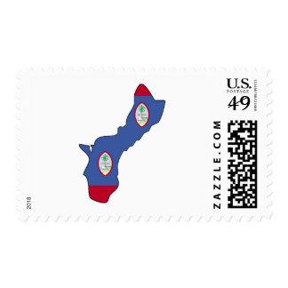Mapa de la bandera de Guam Timbres Postales