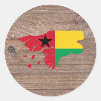 Mapa de la bandera de Guinea-Bissau del equipo en Pegatina Redonda