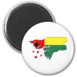 Mapa de la bandera de Guinea-Bissau del mismo tama Imanes Para Frigoríficos
