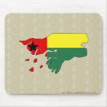 Mapa de la bandera de Guinea-Bissau del mismo tama Alfombrilla De Raton