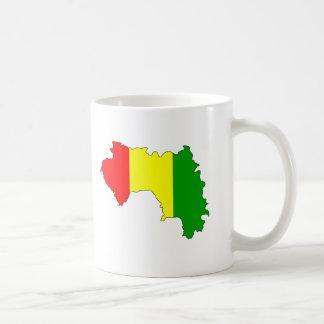 Mapa de la bandera de Guinea Taza De Café