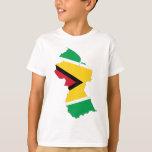 Mapa de la bandera de Guyana Playeras