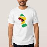 Mapa de la bandera de Guyana Remeras